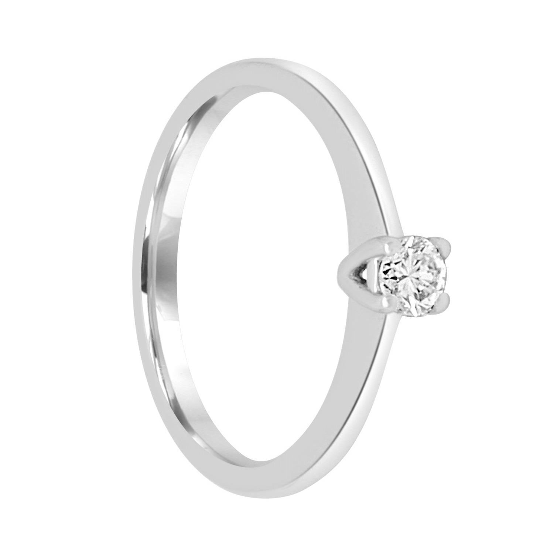 Anello in oro bianco con diamante ct. 0,18 - ORO&CO