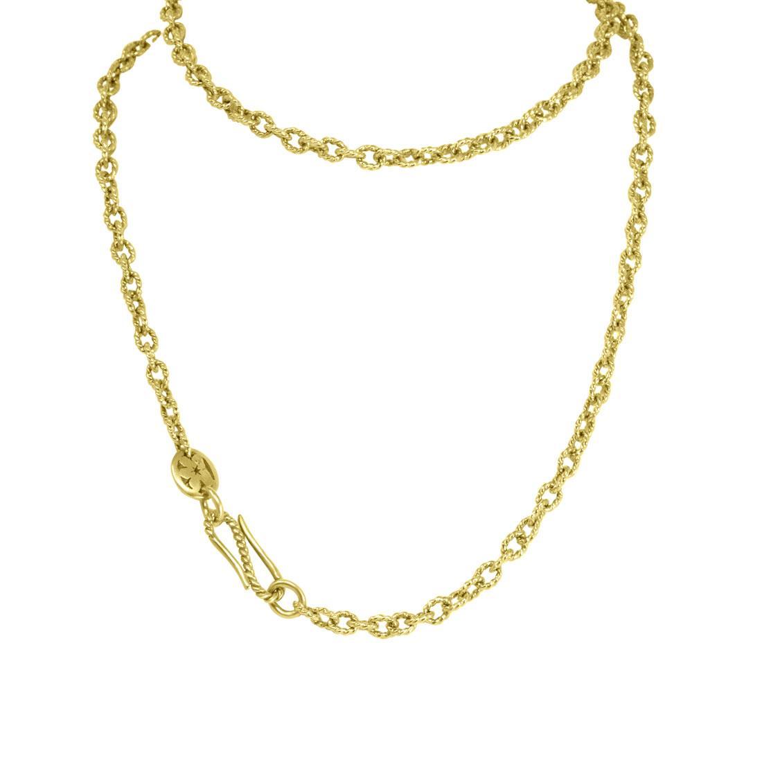 Collana in oro giallo con sabbiatura, lunghezza 58cm  - POMELLATO