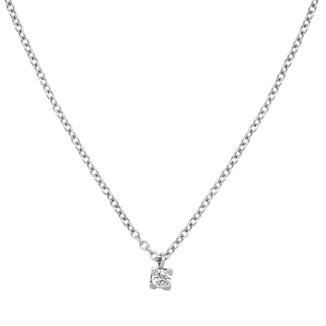 Collana punto luce con diamante  - ORO&CO