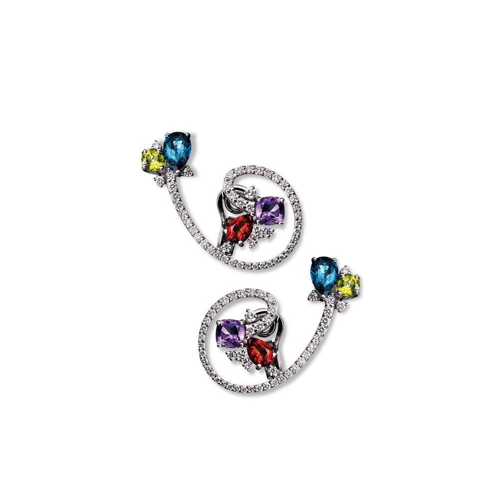 Orecchini design con diamanti - ALFIERI & ST. JOHN
