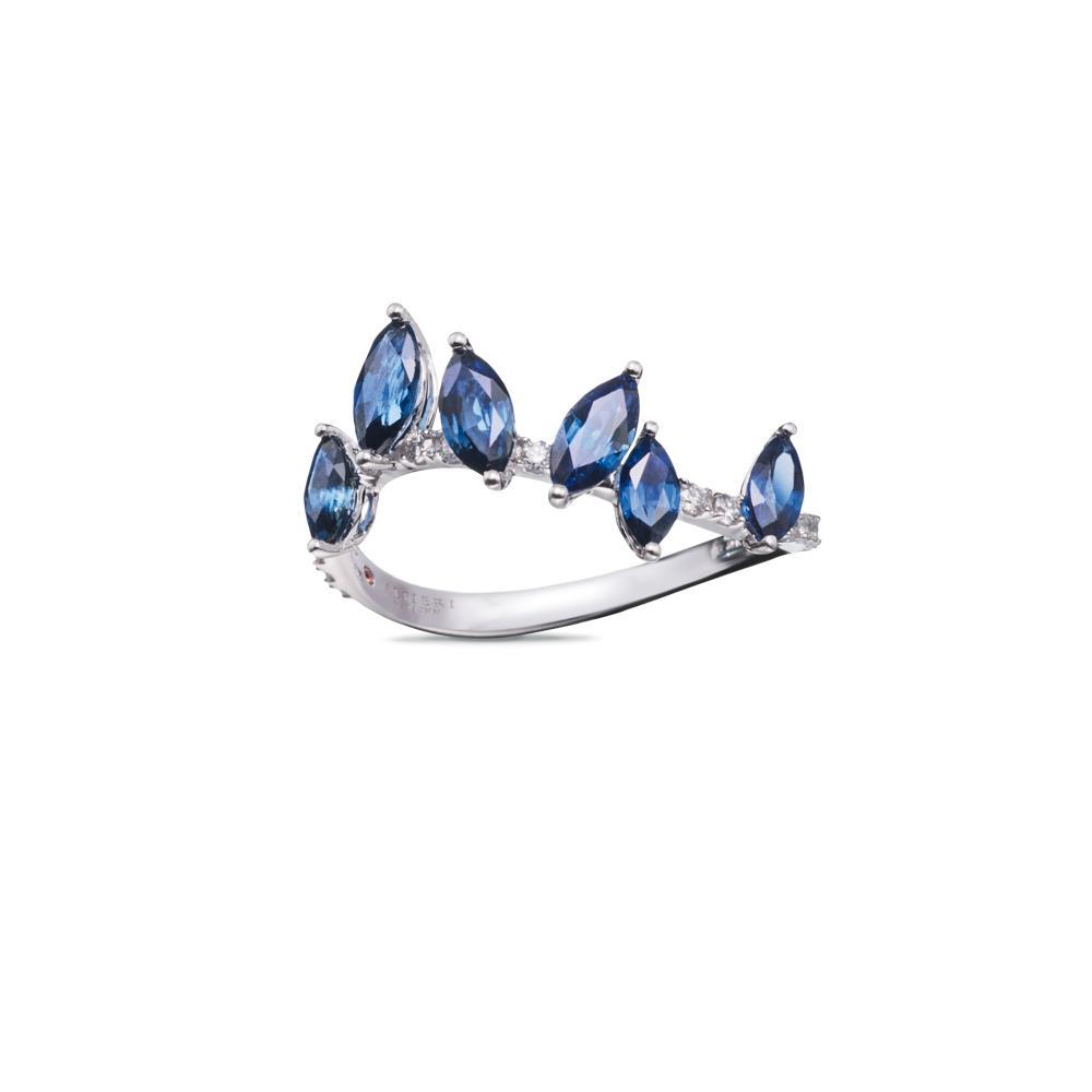 Anello con zaffiri e diamanti - ALFIERI & ST. JOHN