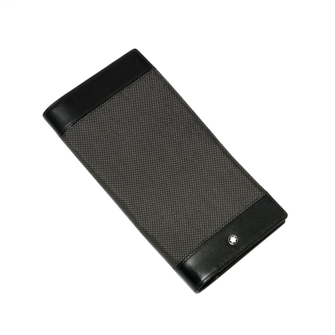 Portafoglio nero in pelle, misura 19 cm di larghezza X 10 cm di lunghezza e 2 cm di profondità - MONTBLANC