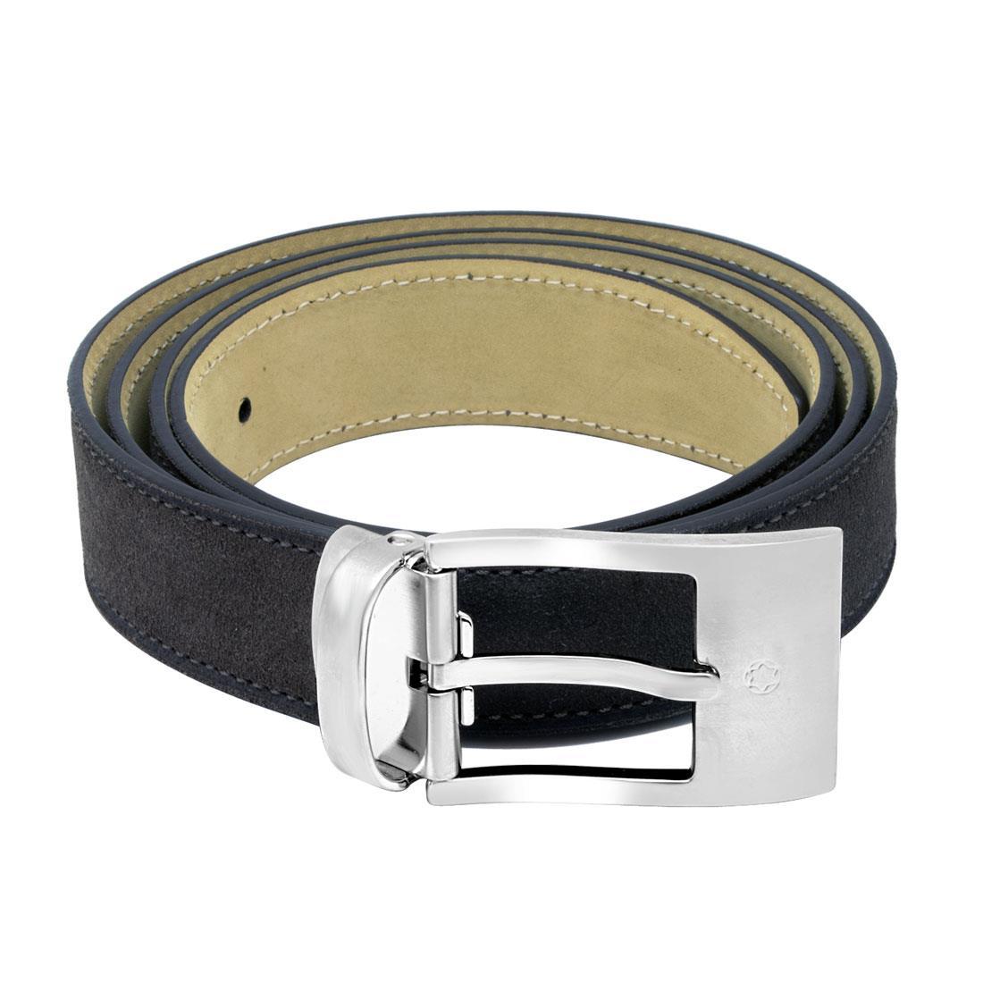 Cintura in pelle marrone con fibbia - MONTBLANC