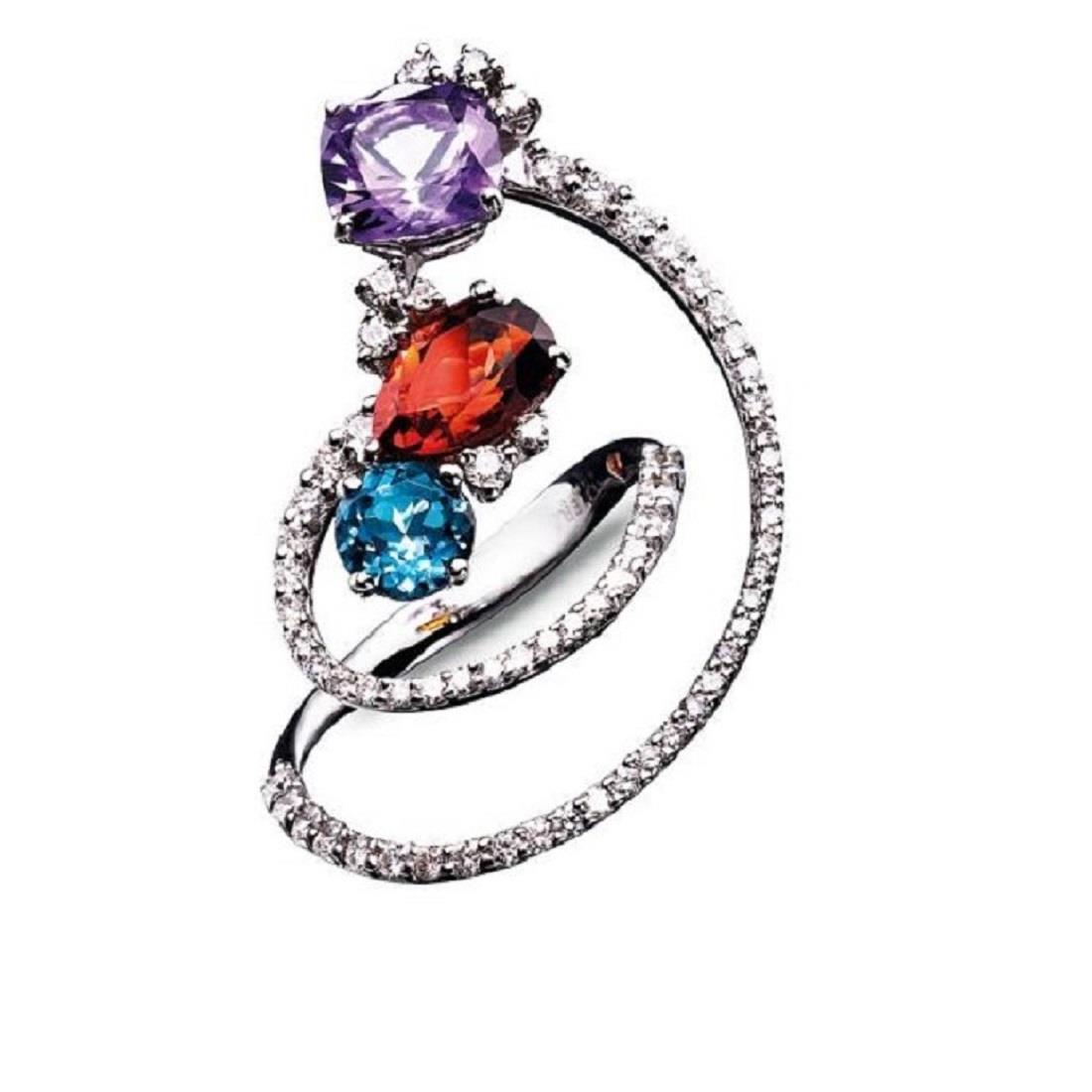 Anello design con diamanti - ALFIERI & ST. JOHN