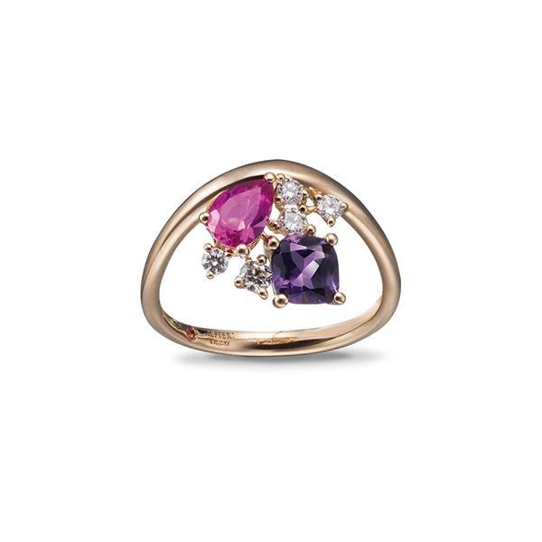 Anello con diamanti e pietre semipreziose - ALFIERI & ST. JOHN