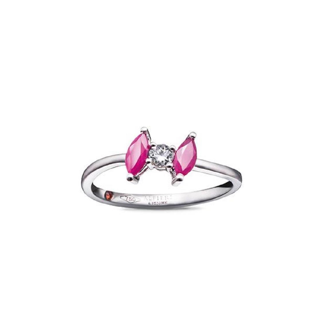 Anello con diamante e rubini ct. 0,32 - ALFIERI & ST. JOHN