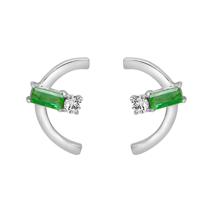 Orecchini con smeraldi e diamanti - ALFIERI & ST. JOHN