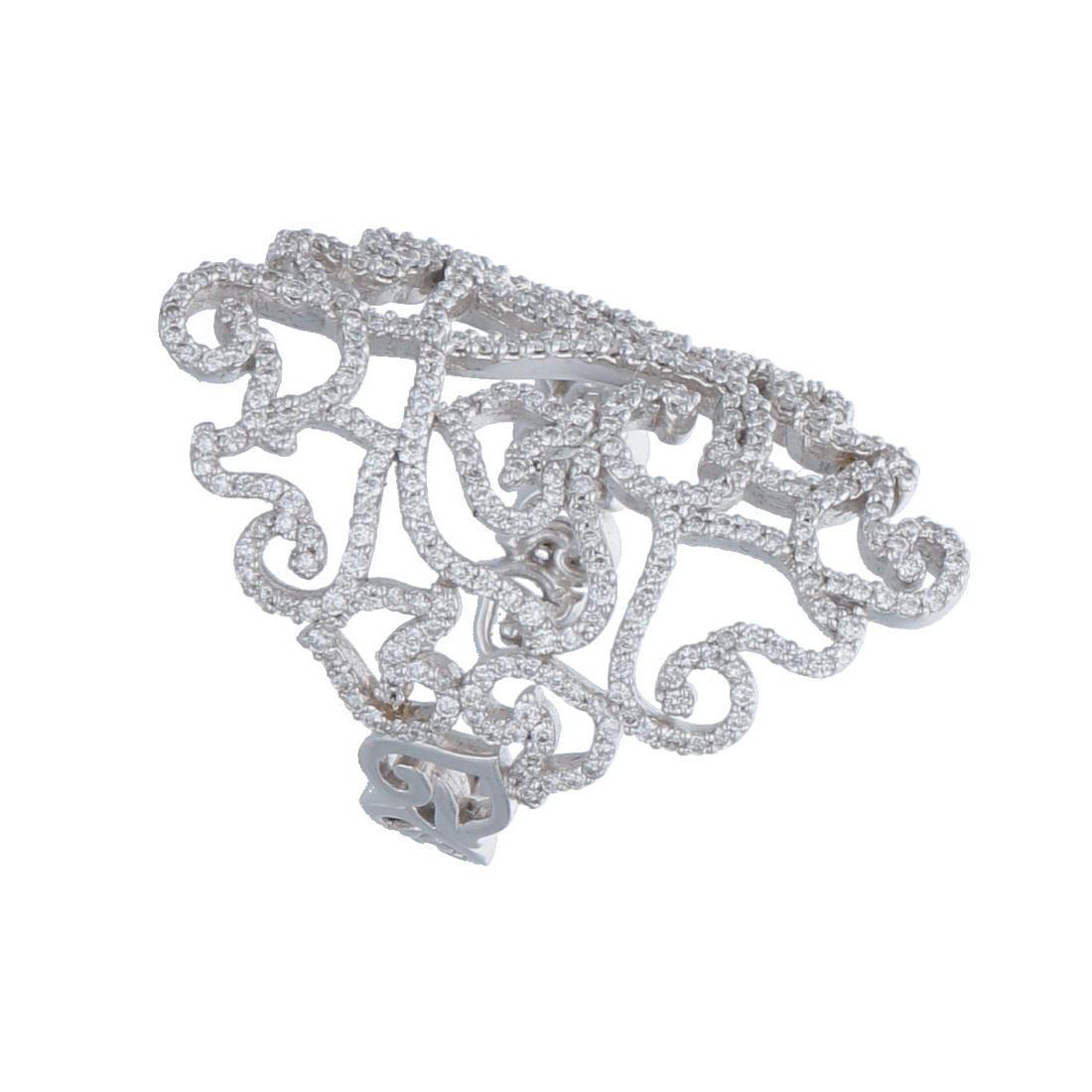 Anello in oro bianco e diamanti 1.02 ct - CHANTECLER