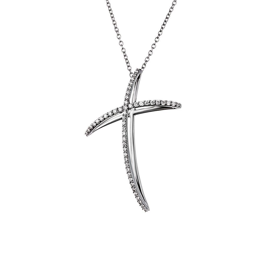 Collana con croce con diamanti  - ALFIERI & ST. JOHN