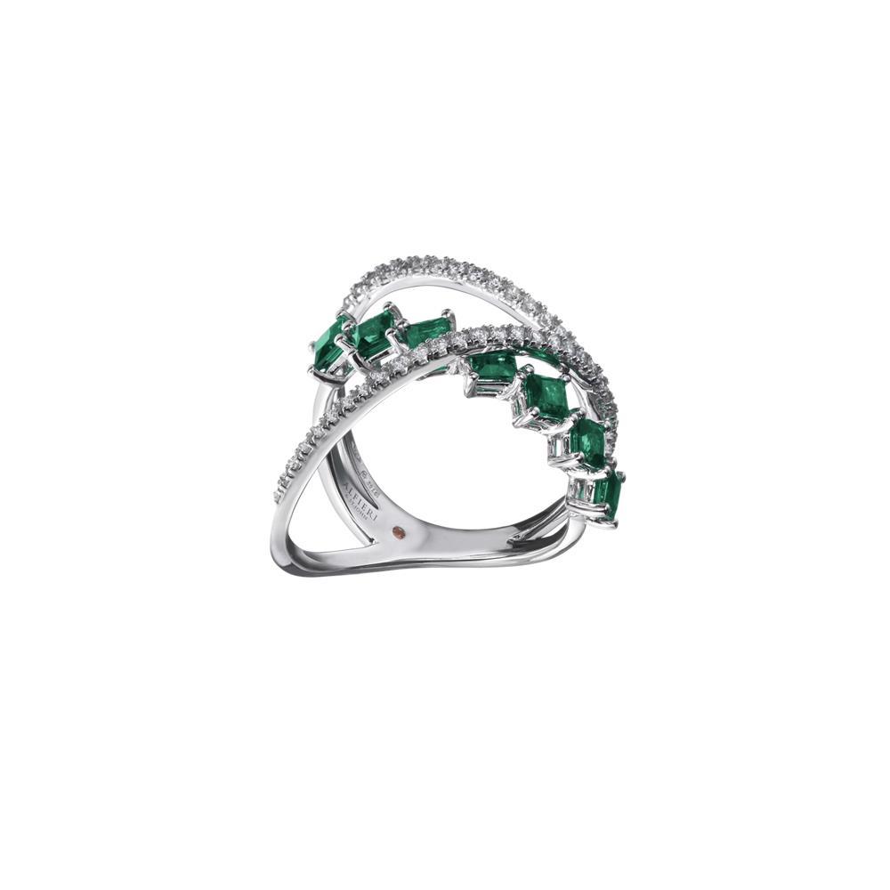 Anello con smeraldi e diamanti - ALFIERI & ST. JOHN