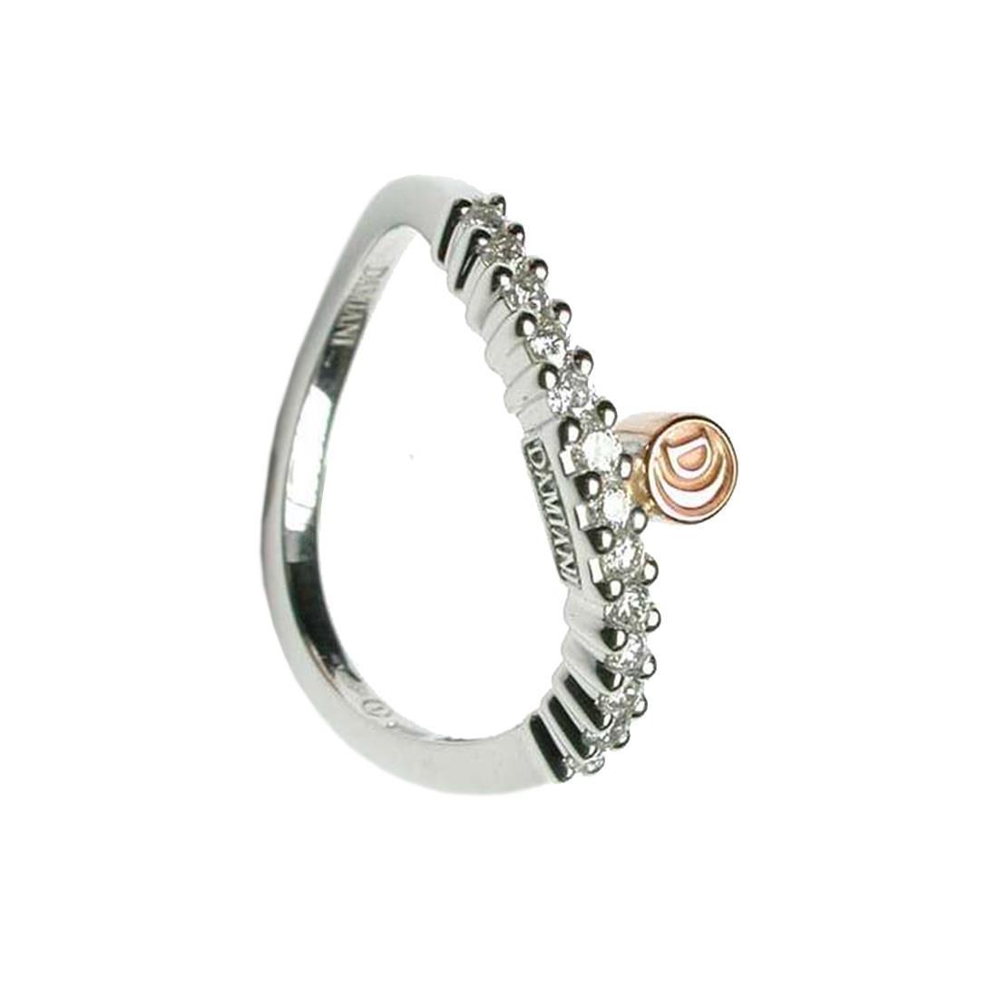Anello in oro bianco con diamanti  - DAMIANI