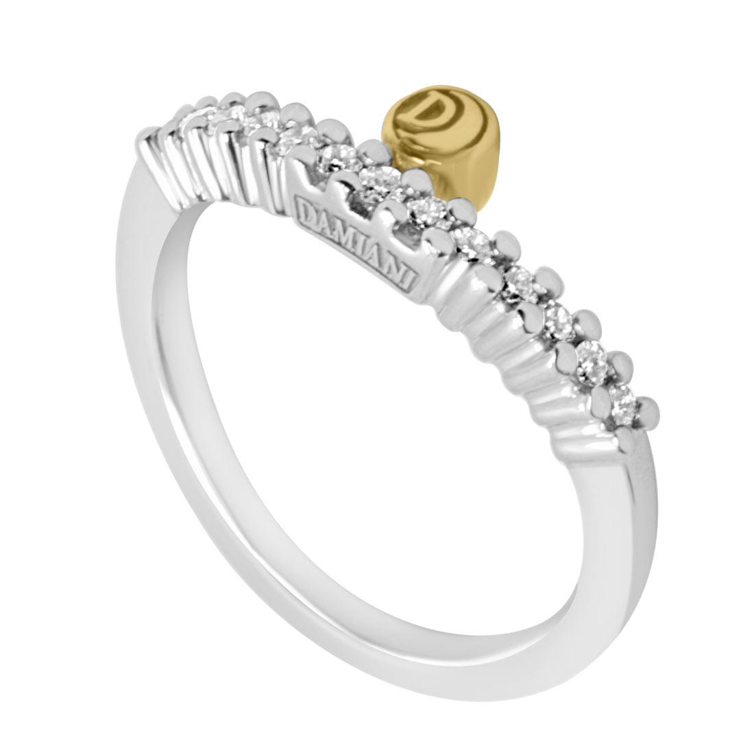 Anello Damiani in oro bianco e diamanti ct 0,24 mis 15 - DAMIANI