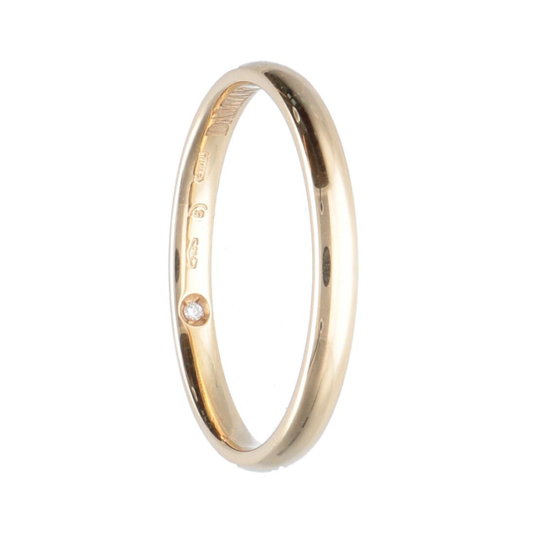 Fede in oro giallo con diamante mis 21 - DAMIANI
