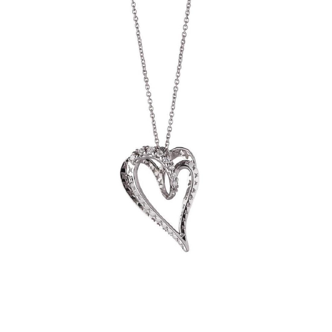Collana in oro bianco con pendente cuore - ALFIERI & ST. JOHN