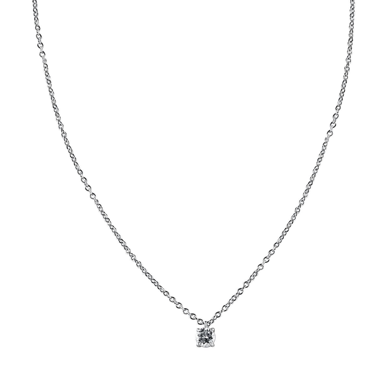 Collana punto luce in oro bianco con diamante ct. 0,41 - ORO&CO