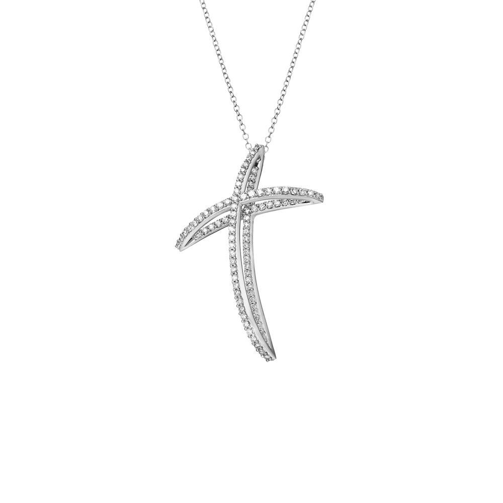 Collana con croce in diamanti - ALFIERI & ST. JOHN