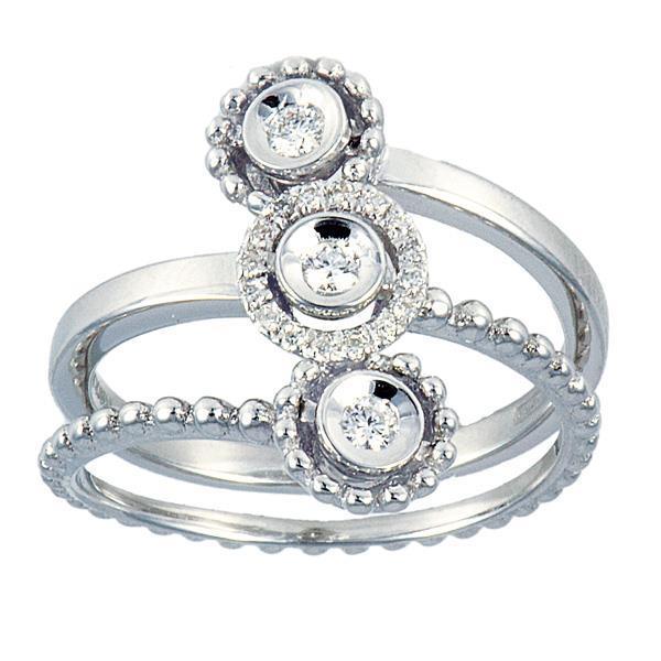 Ring with diamonds - ALFIERI & ST. JOHN