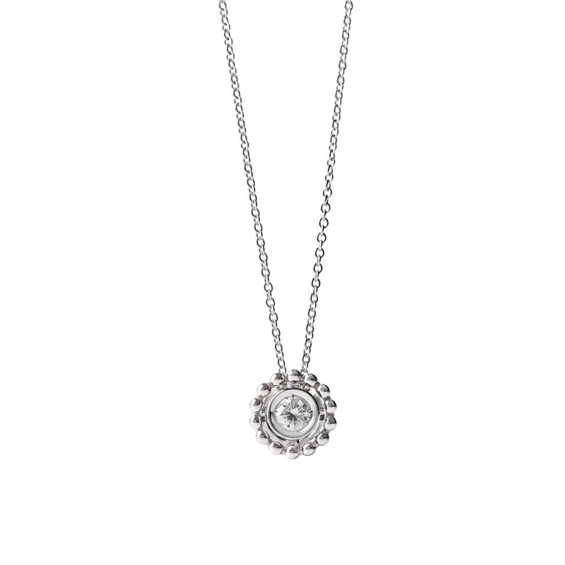 Collana punto luce in oro bianco con diamante - ALFIERI & ST. JOHN