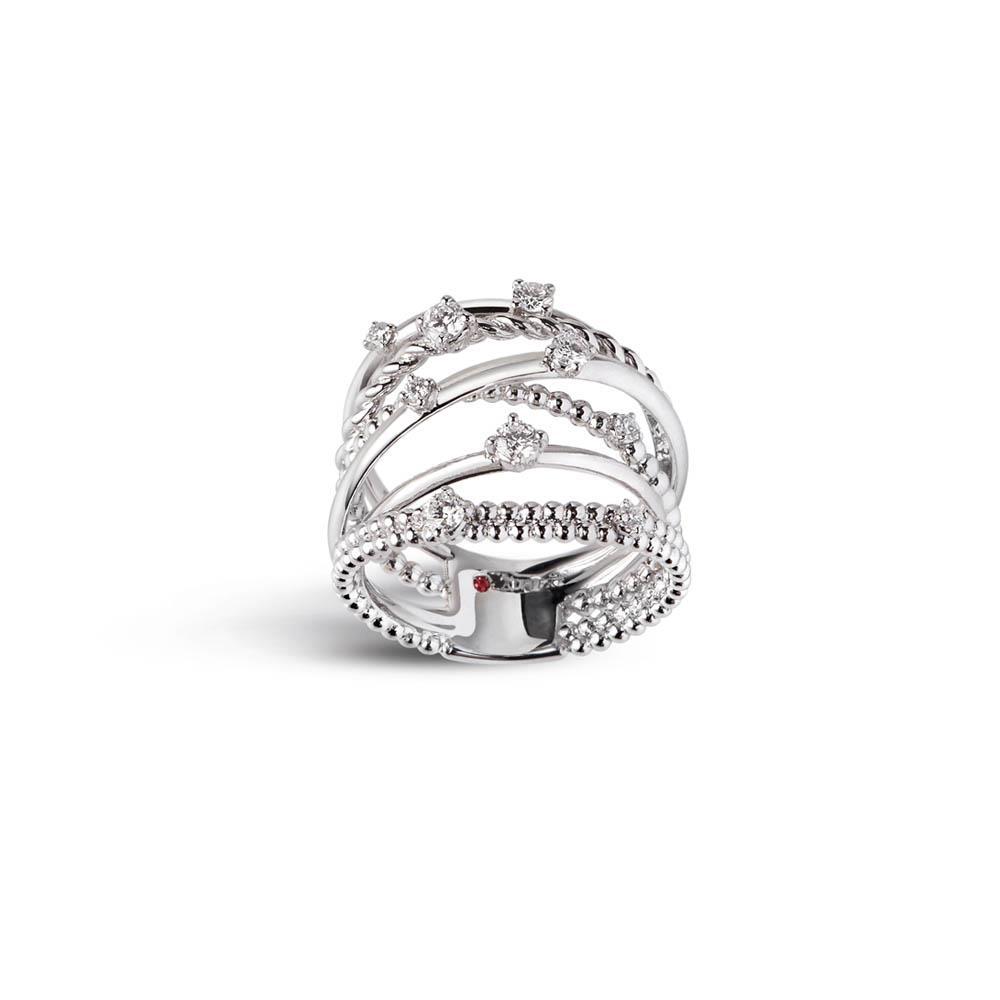 Anello multifilo con diamanti  - ALFIERI & ST. JOHN
