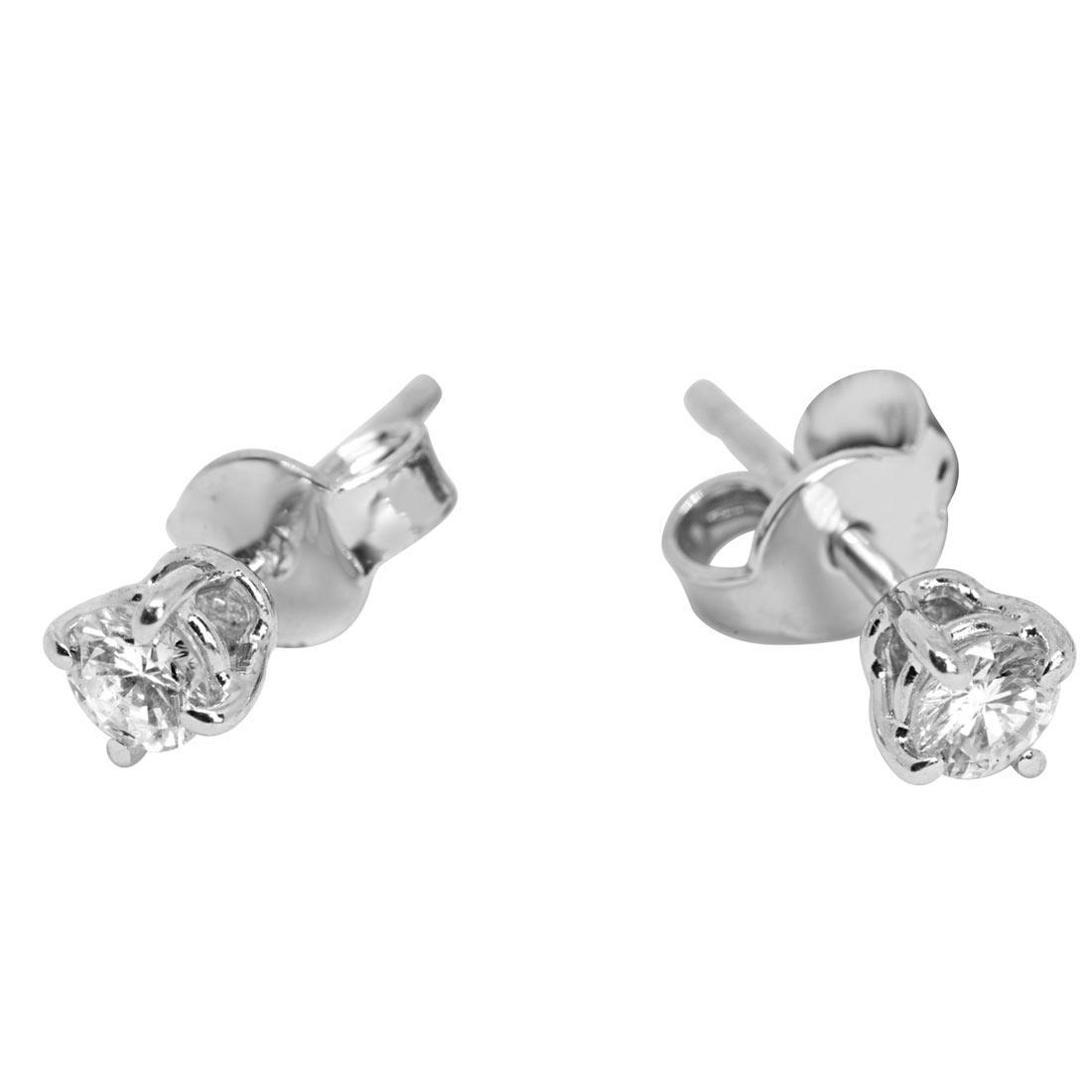Orecchini in oro bianco e diamanti ct 0.32 - ORO&CO