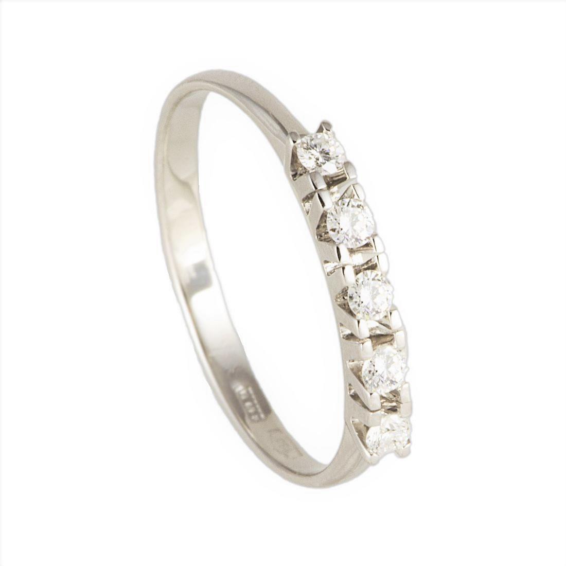 Anello veretta con diamanti  - ORO&CO