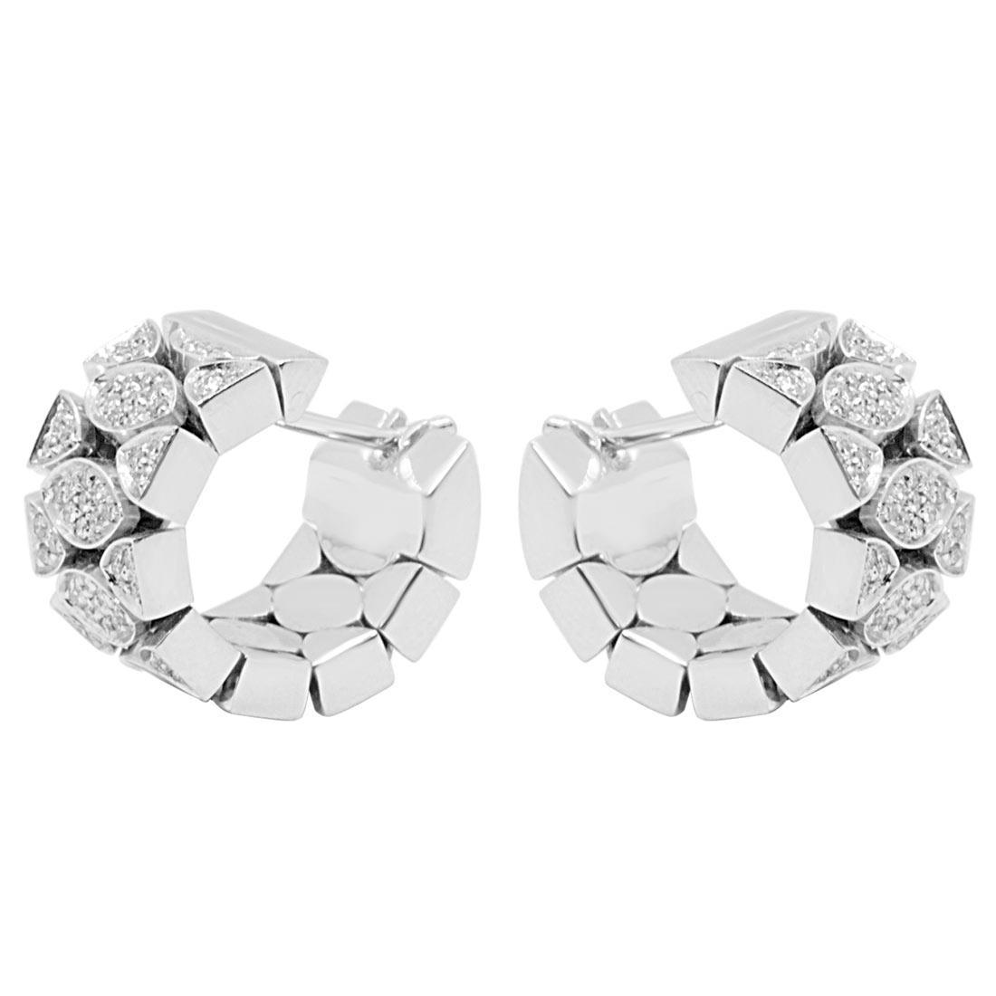 Orecchini Pasquale Bruni in oro bianco con diamanti ct 0,55 - PASQUALE BRUNI