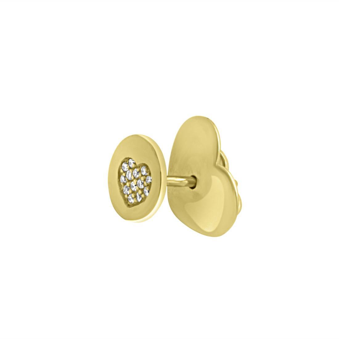 Orecchino in oro giallo con diamanti, larghezza 0.7cm - PASQUALE BRUNI