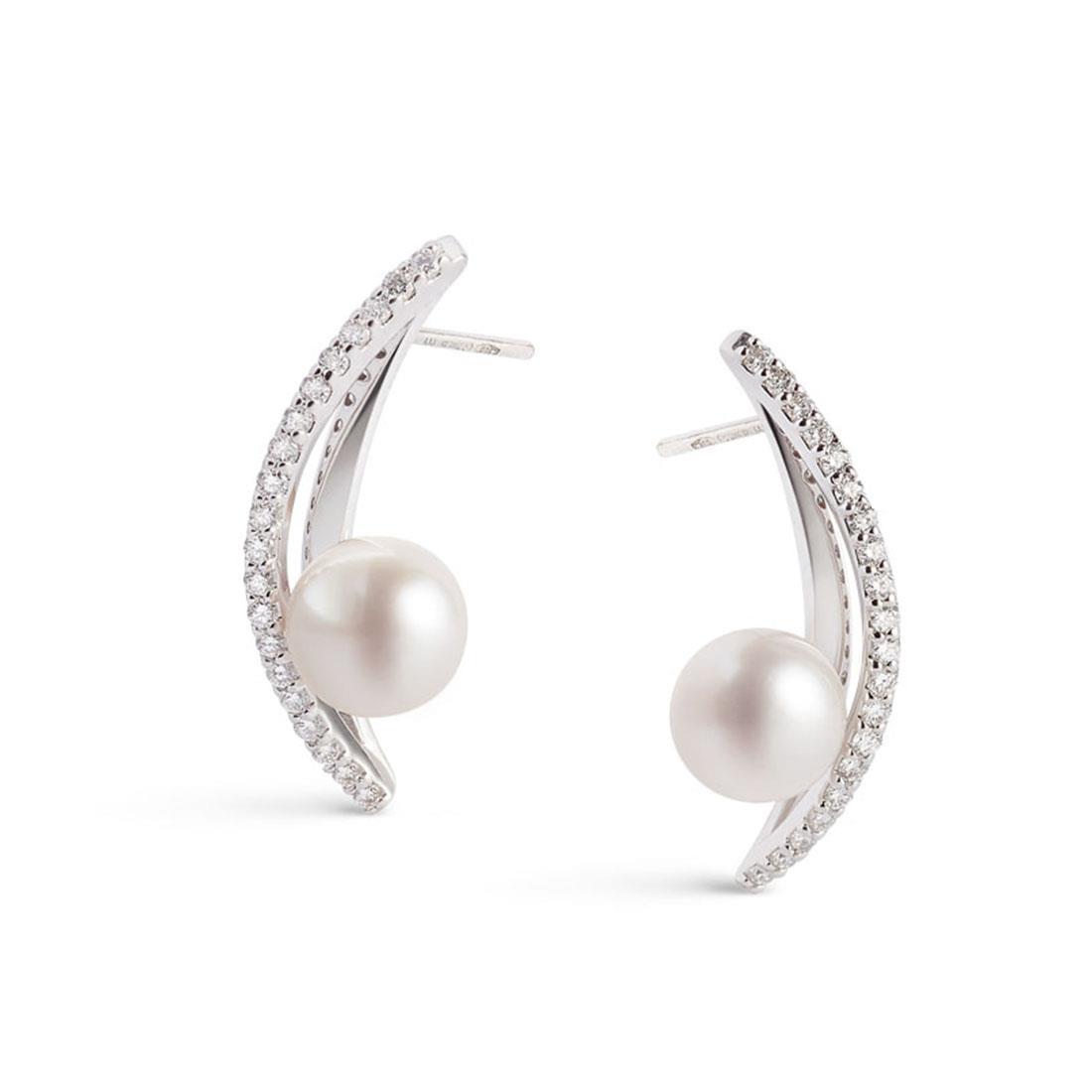 Orecchini design con perle Akoya - ALFIERI & ST. JOHN