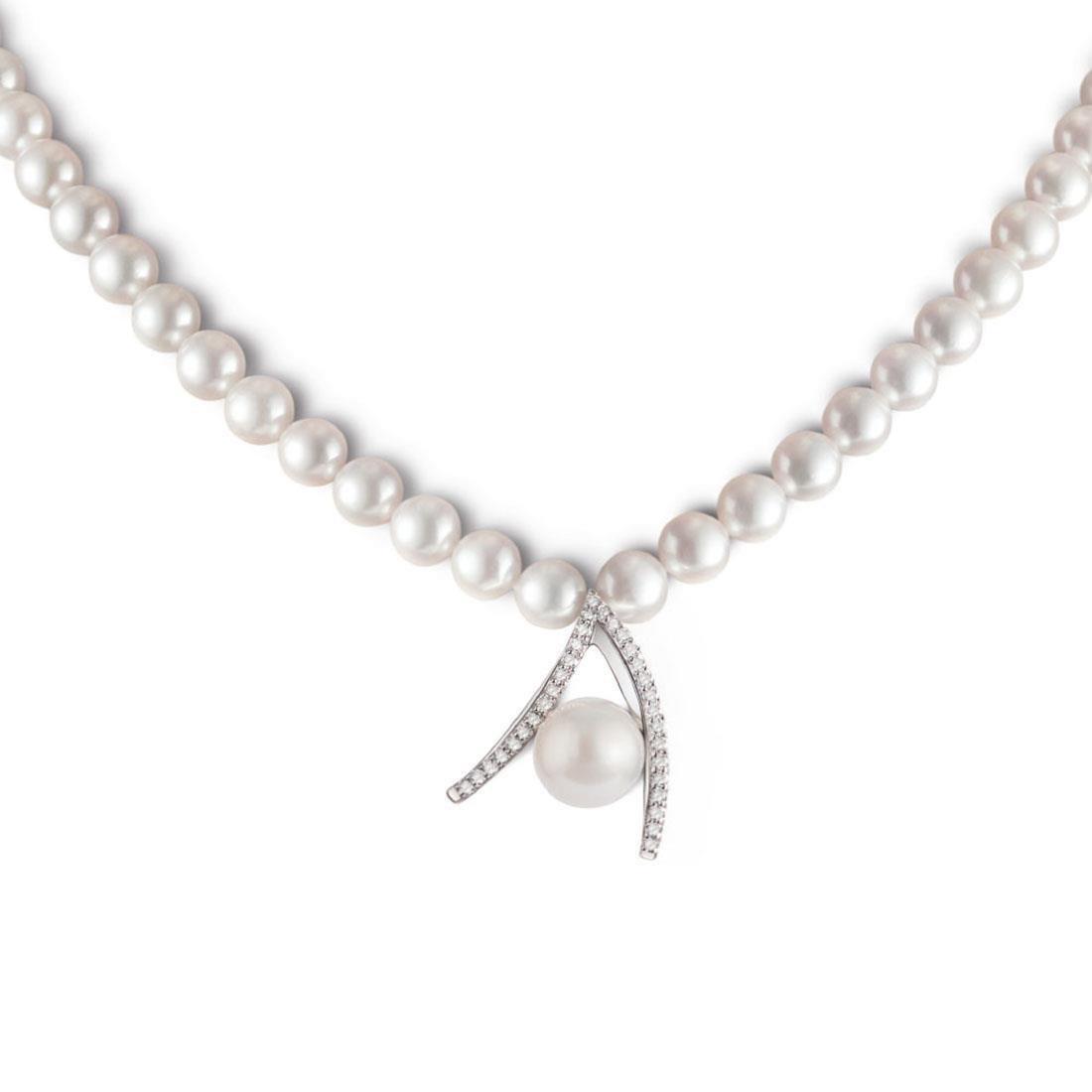 Collana con perle e diamanti - ALFIERI & ST. JOHN