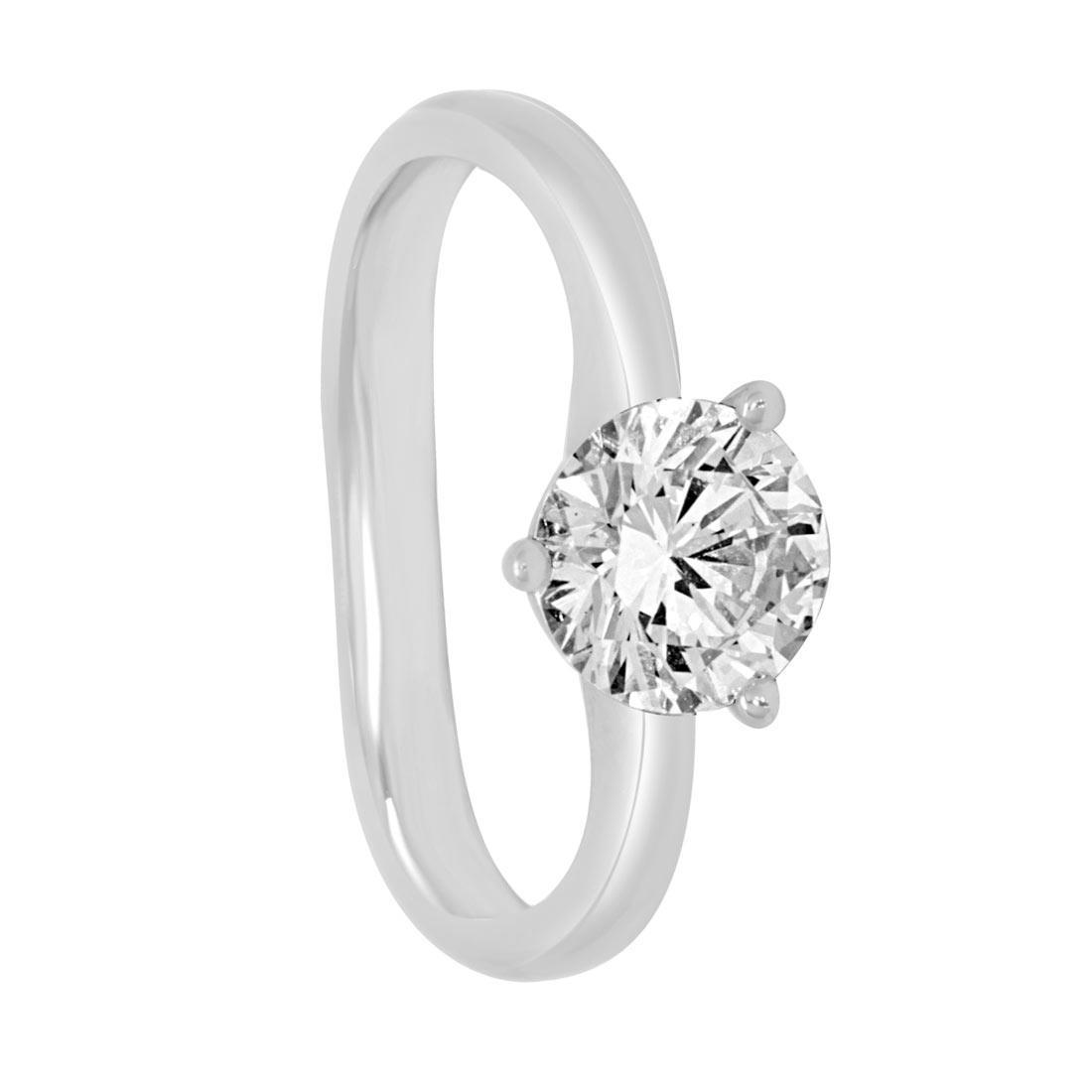Anello Oro & Co in oro bianco con diamante ct 1,31  misura 13 - ORO&CO