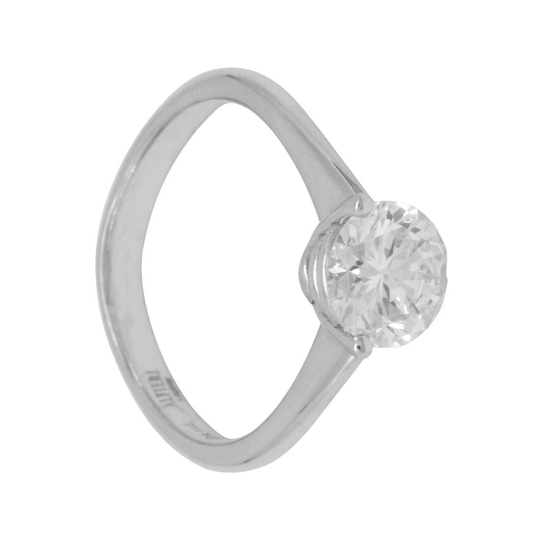 Anello solitario con diamante ct. 1,34 - ALFIERI & ST. JOHN