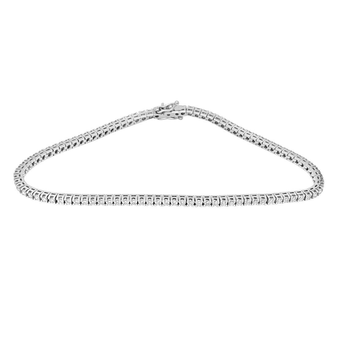 Bracciale Tennis in oro bianco con diamanti ct. 2,75 - ORO&CO