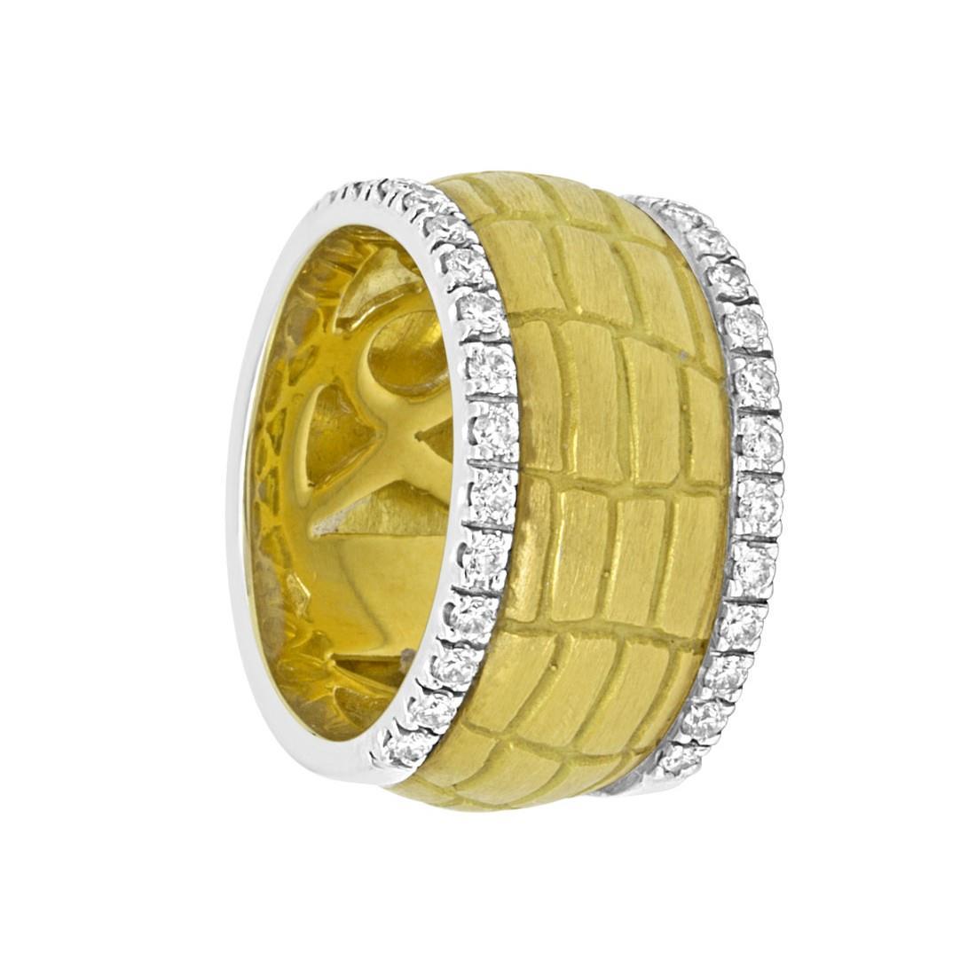 Anello in oro giallo con diamanti ct 0.60, misura 14 - ORO&CO