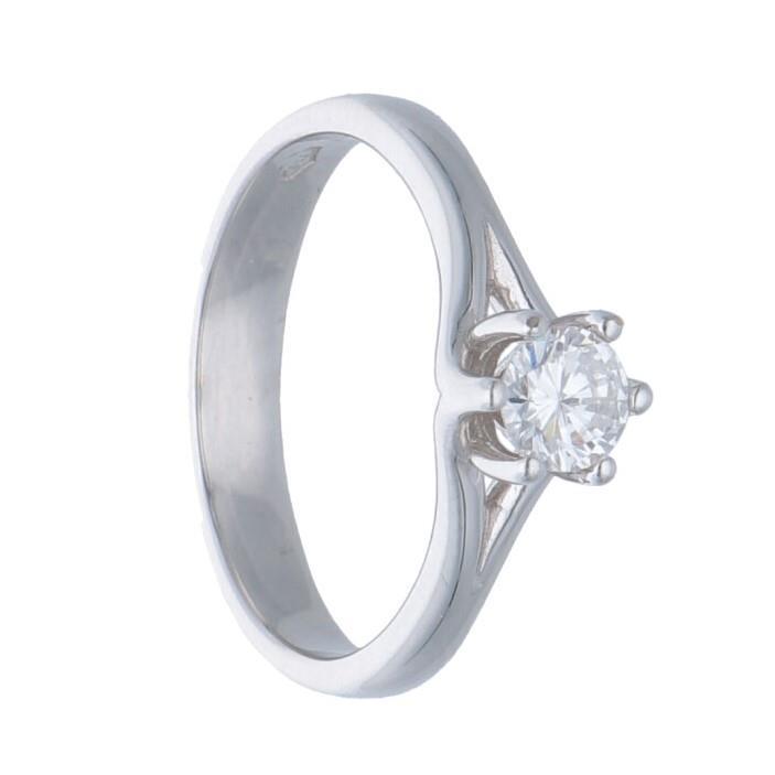 Anello solitario con diamante - ORO&CO