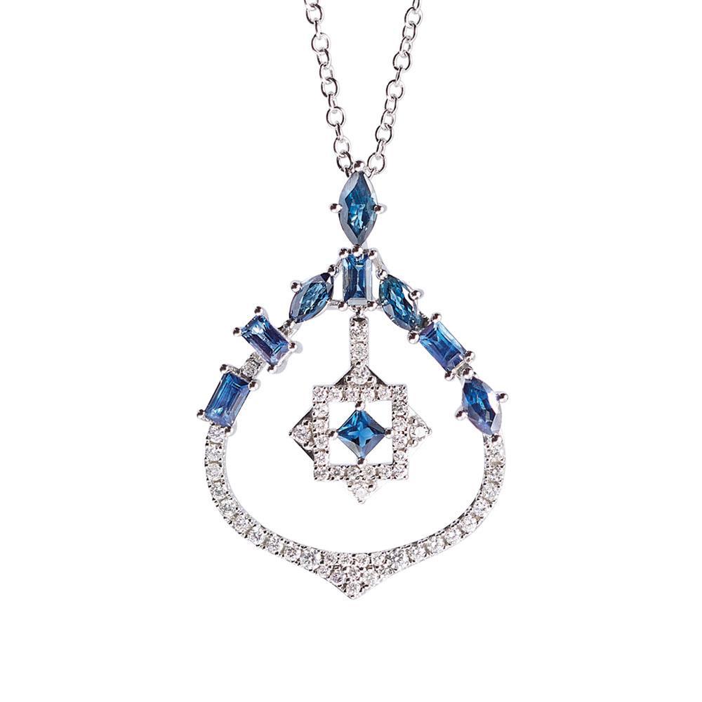 Collana con zaffiri e diamanti - ALFIERI & ST. JOHN