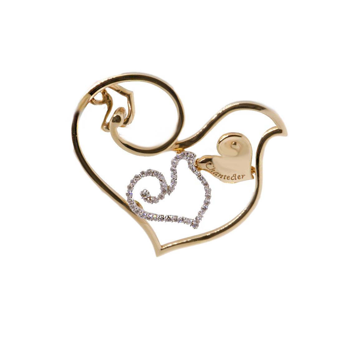 Ciondolo Chantecler Diamour in oro rosa gr 10,87 diamanti  ct 0,24 - CHANTECLER