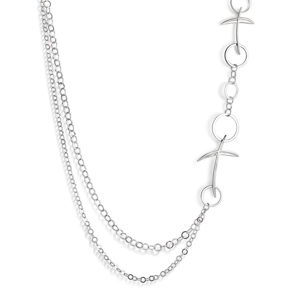 Collana lunga con corci design - ALFIERI & ST. JOHN 925