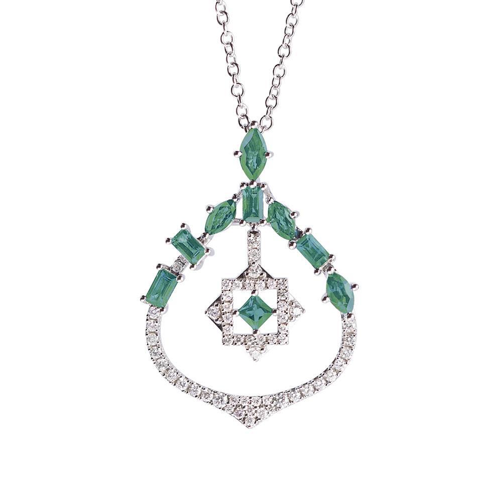 Pendente con diamanti e smeraldi - ALFIERI & ST. JOHN