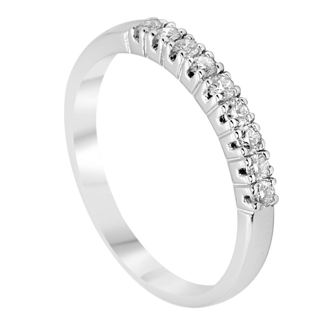 Anello veretta 9 pietre con diamanti, mis 14 - ALFIERI & ST. JOHN