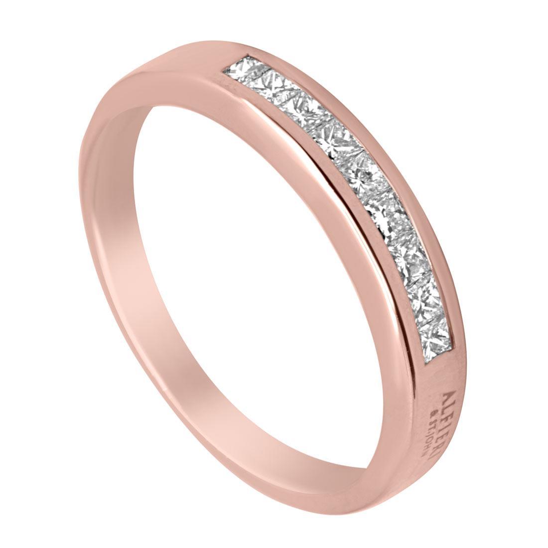 Anello in oro rosa con diamanti mis 14 - ALFIERI & ST. JOHN