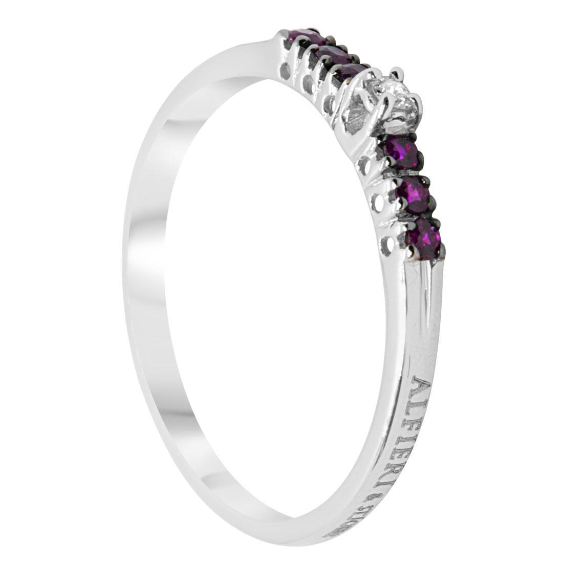 Anello veretta con diamanti e rubini mis 13 - ALFIERI ST JOHN