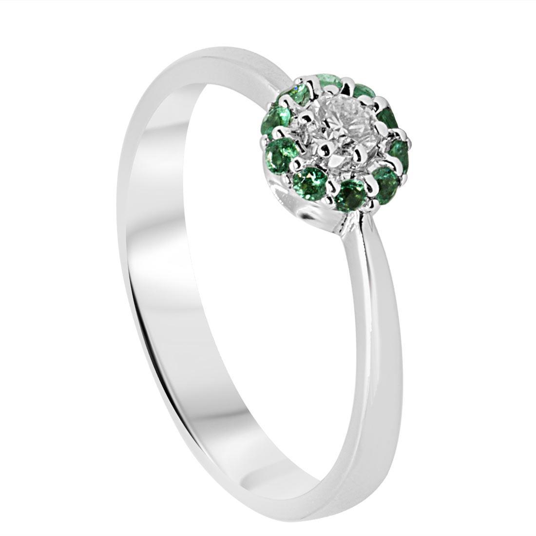 Anello con diamanti e smeraldi mis 14 - ALFIERI & ST. JOHN