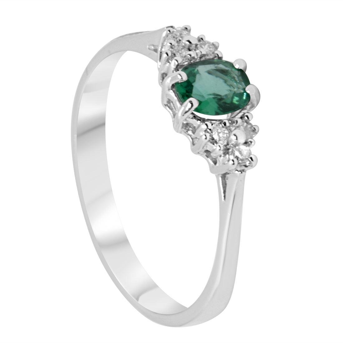 Anello con diamanti e smeraldo - ALFIERI & ST. JOHN