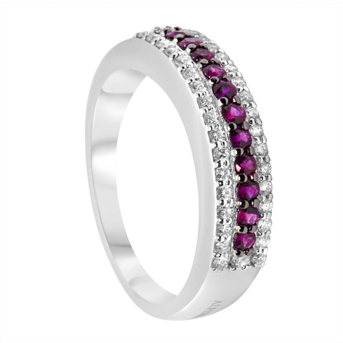 qualità superiore fef86 d86f0 Anello veretta con diamanti e rubini mis 13