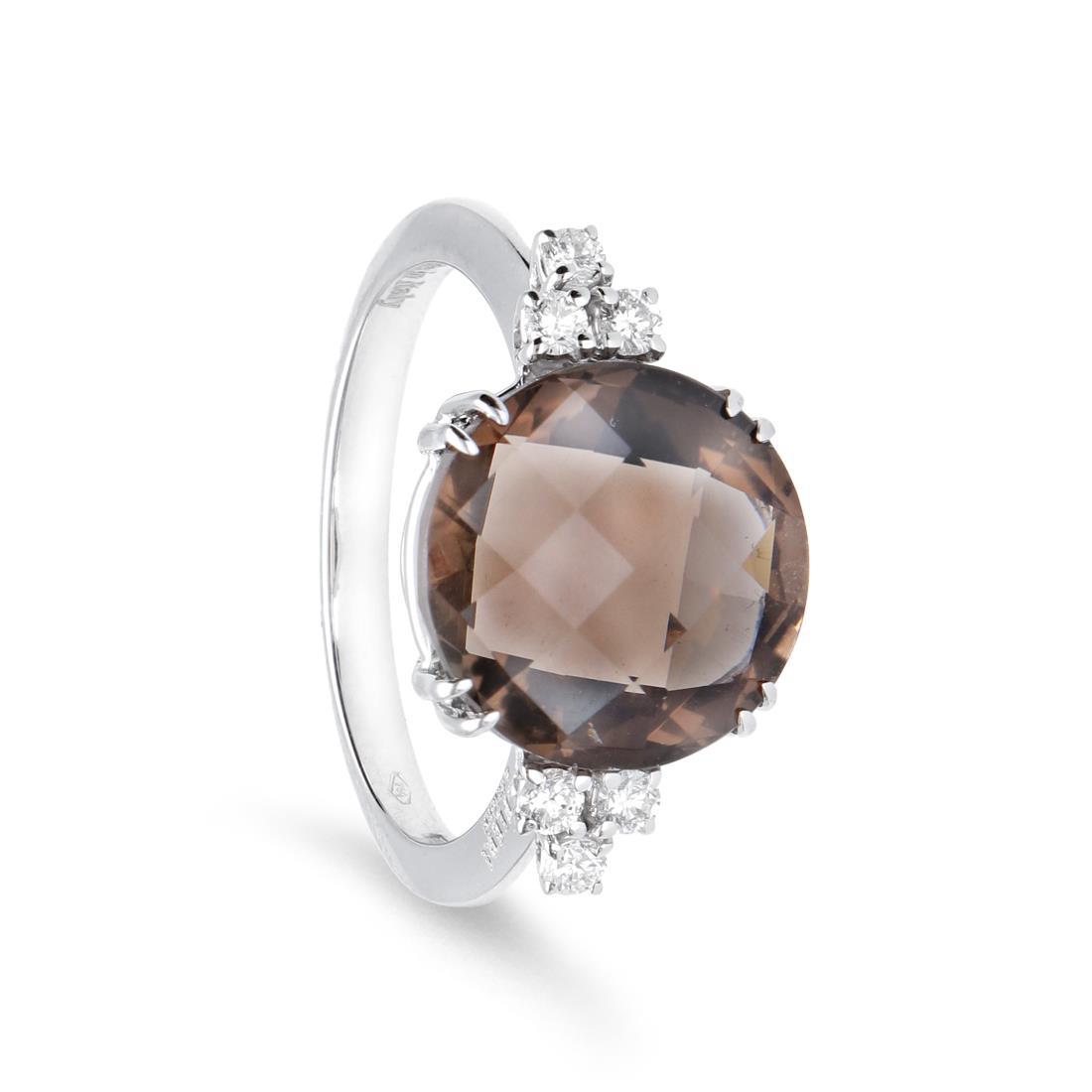 Anello con diamanti e quarzo - ALFIERI & ST. JOHN