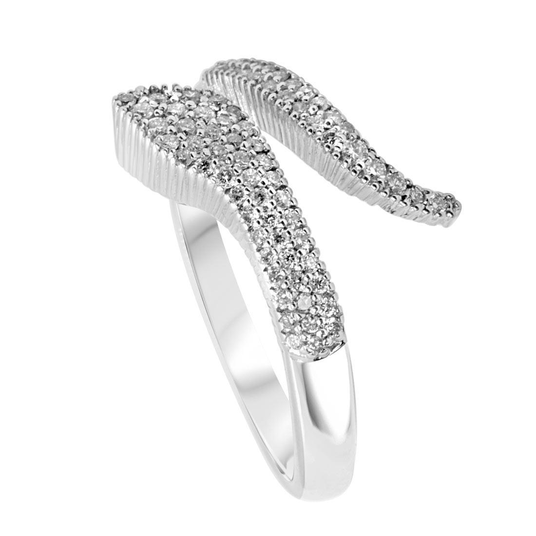 Anello Alfieri & St John in oro bianco con diamanti ct 0,27  - ALFIERI ST JOHN