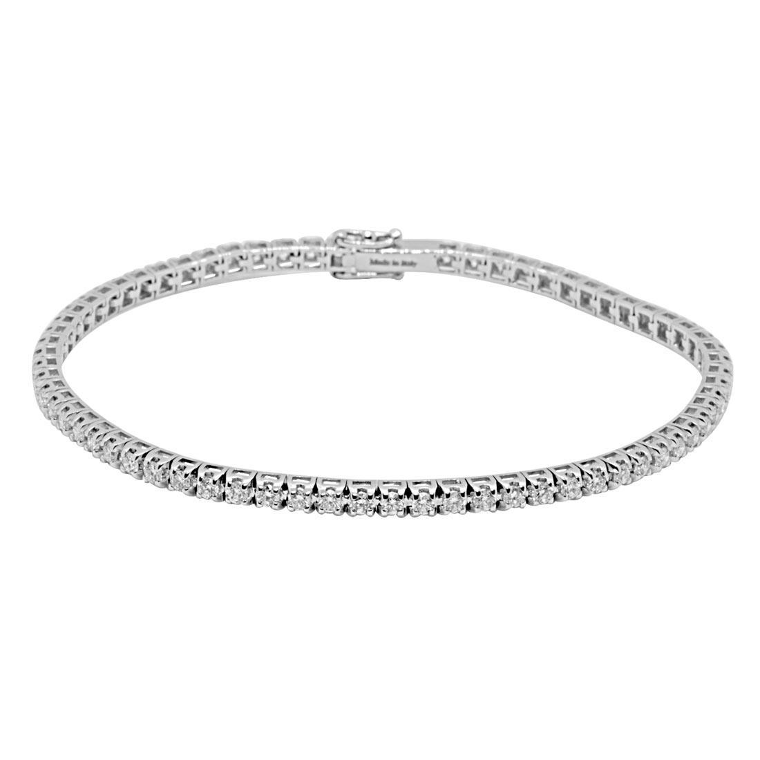 Bracciale tennis in oro bianco con diamanti 0,55 ct - ALFIERI ST JOHN