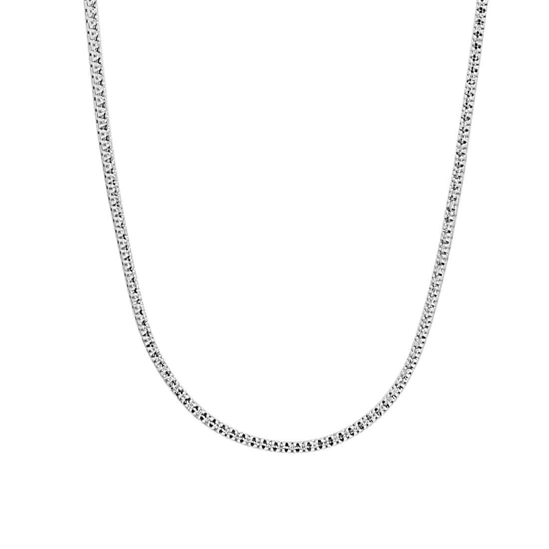comprare on line 7cff6 9cc7f Collana tennis in oro bianco con diamanti 0,60 ct