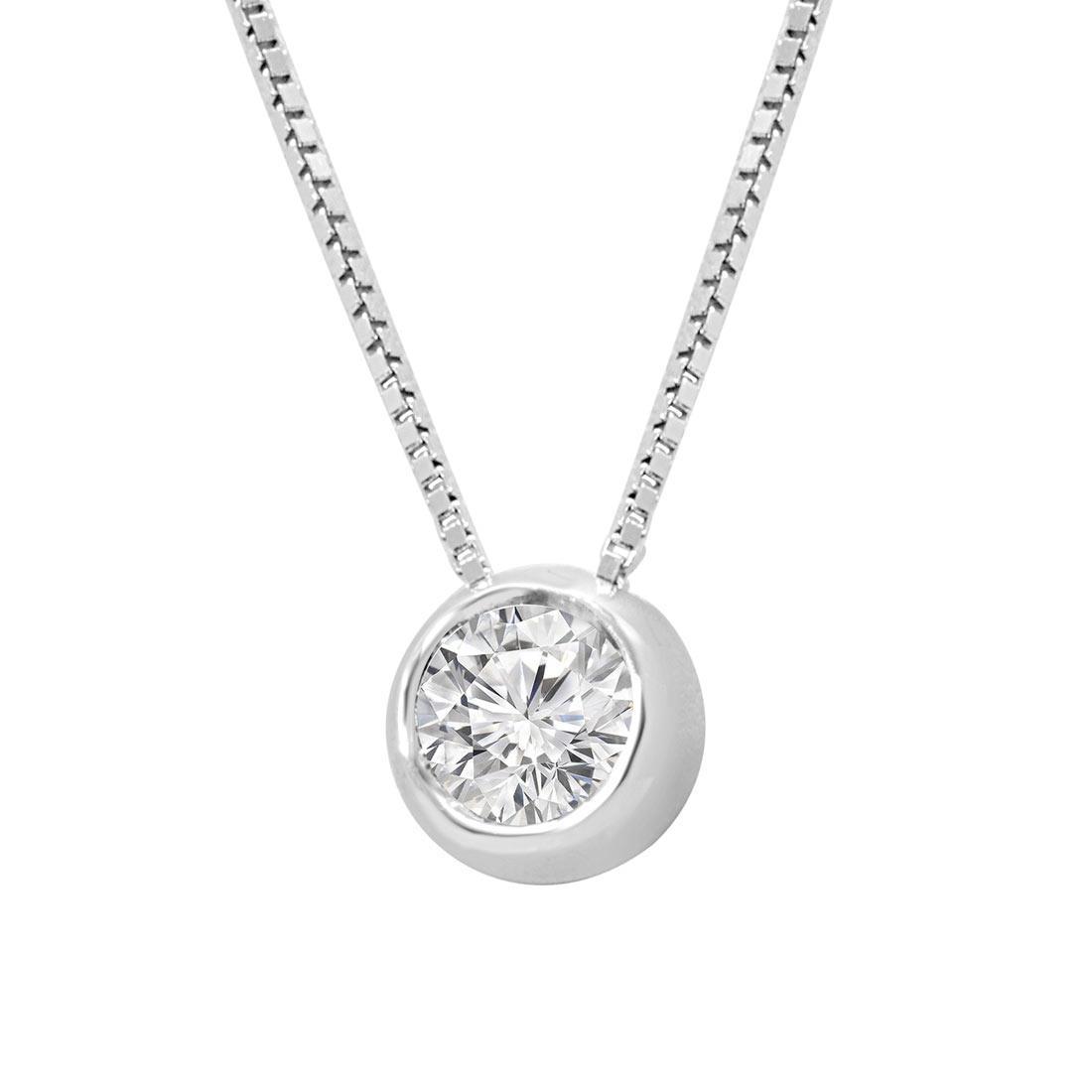 Collier punto luce con diamante 0,48 ct - ALFIERI ST JOHN