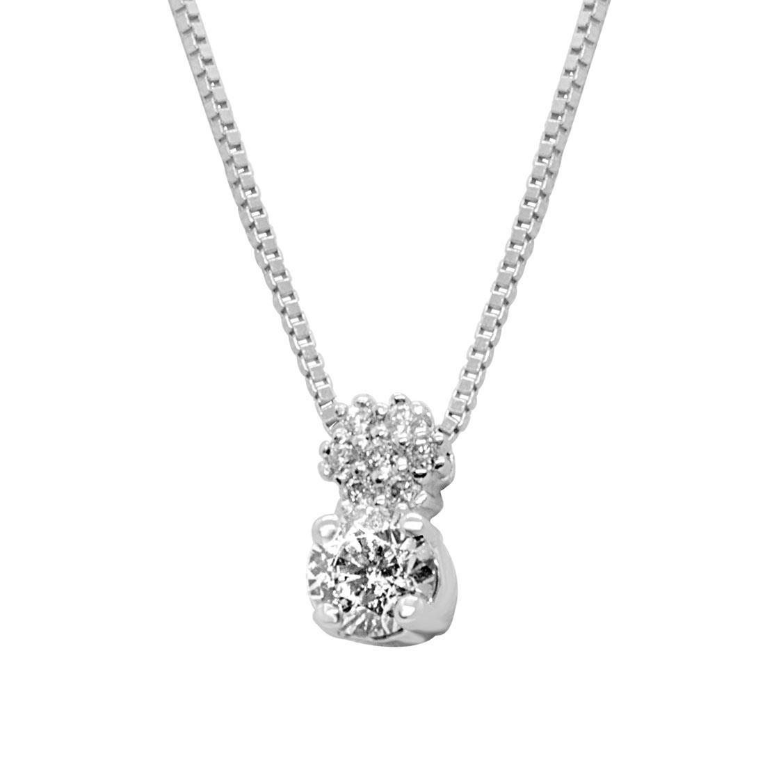Collier in oro bianco con diamanti 0,23 ct - ALFIERI ST JOHN